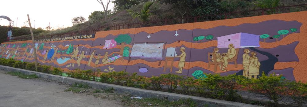 Mural Art on Health and Cleanliness At Killa RD Block HQ