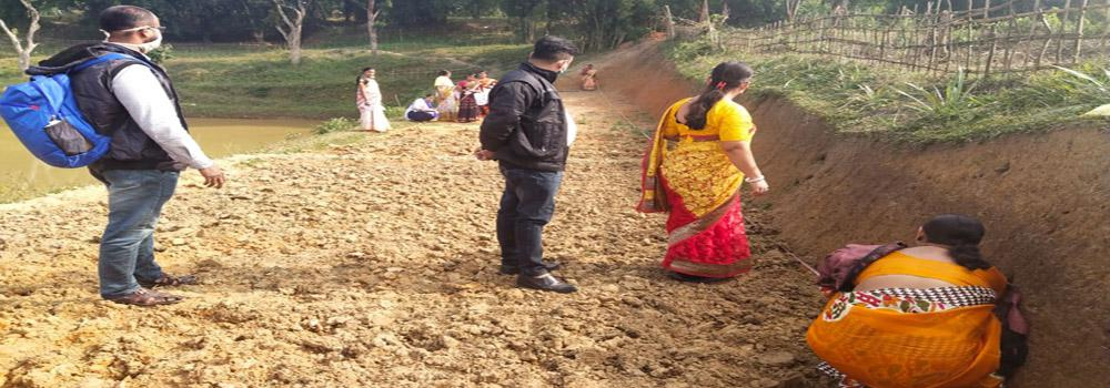 Practical field training of women mates at Charilam Block